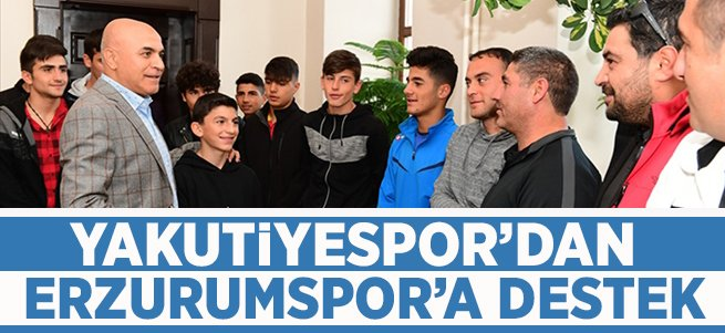 Yakutiyespor'dan BB Erzurumspor'a destek