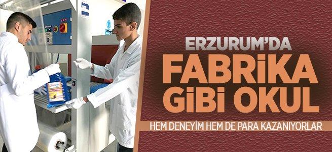 Erzurum'da fabrika gibi okul!