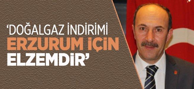 'Doğalgaz indirimi Erzurum için elzemdir'