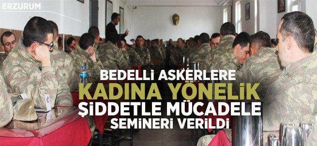 Bedelli askerlere yönelik anlamlı seminer