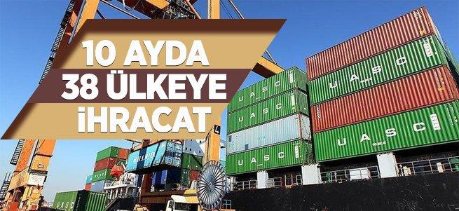 Erzurum'dan 10 Ayda 38 Ülkeye İhracat