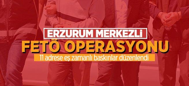 Erzurum merkezli FETÖ operasyonu