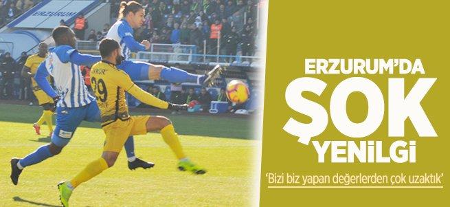 Erzurum'da şok yenilgi