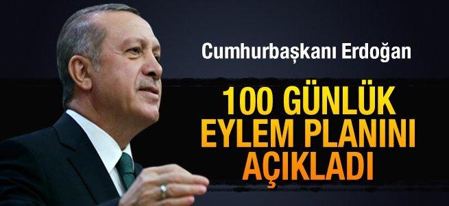 Erdoğan 100 Günlük Eylem Planı'nı açıkladı