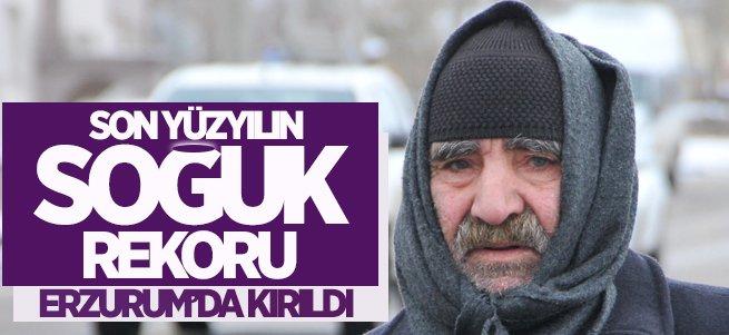 Erzurum yıllar önce yüzyılın soğuk rekorunu kırdı!