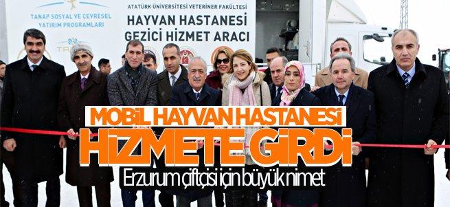 Erzurum'da Mobil Hayvan Hastanesi Açıldı