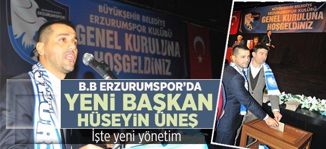B.B Erzurumspor'da yeni Başkanı Hüseyin Üneş