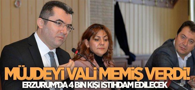 Erzurum'da 4 bin kişi istihdam edilecek
