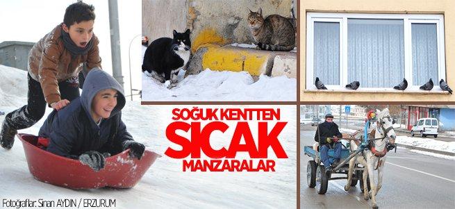 Soğuk kent Erzurum'dan sıcak manzaralar