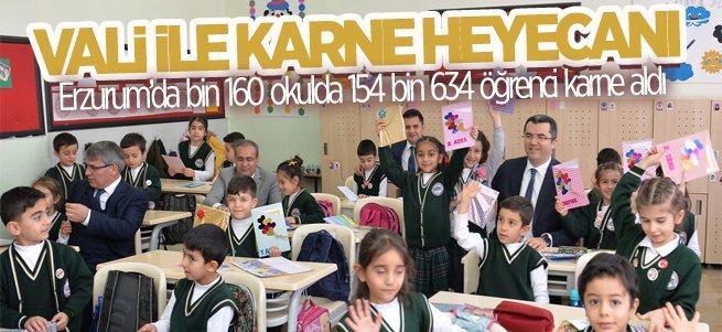 Erzurum'da karne coşkusu vardı