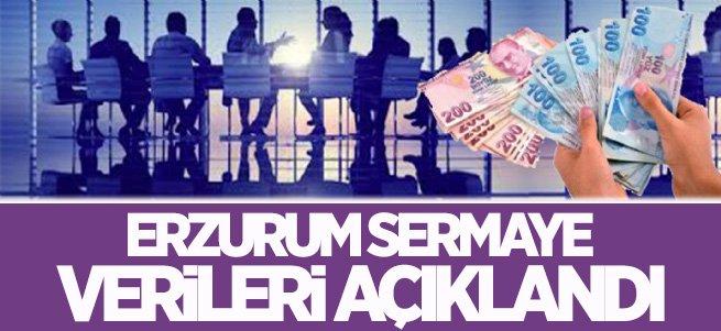 Erzurum sermaye verileri açıklandı
