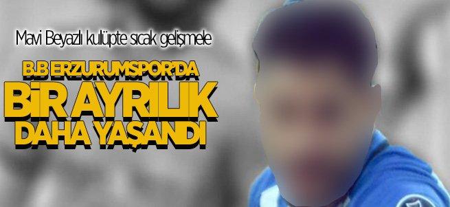 B.B Erzurumspor'da bir futbolcu daha gönderildi