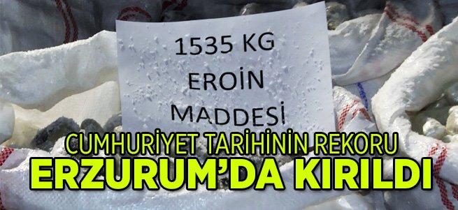 Erzurum Polisinden rekorlara giren operasyon