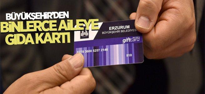 Büyükşehir'den 2 bin 200 aileye gıda kartı