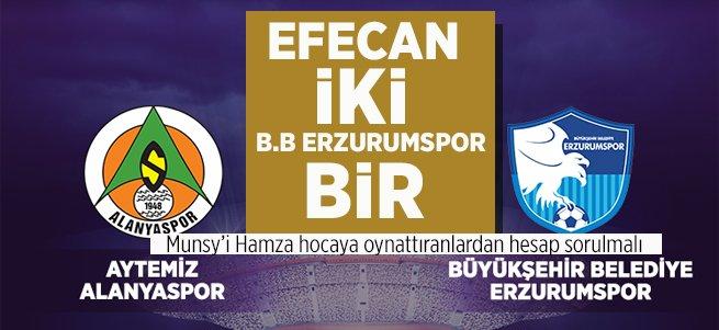 Efecan oynadı, Cisse kaçırdı, B.B Erzurumspor seyretti...