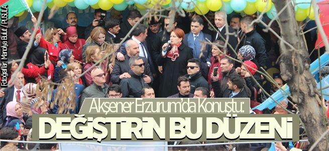 Meral Akşener Erzurum'da konuştu