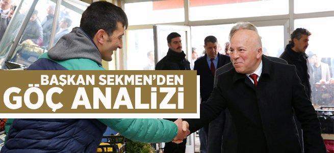 Başkan Sekmen'den Göç Analizi
