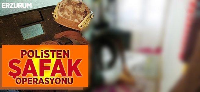 Erzurum Polisinden temizlik operasyonu