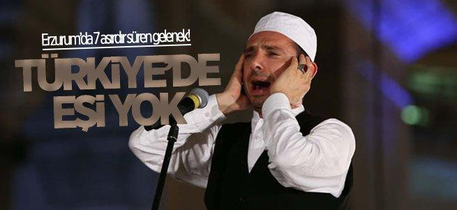 Erzurum'da okunan bu ezanın Türkiye'de eşi yok!