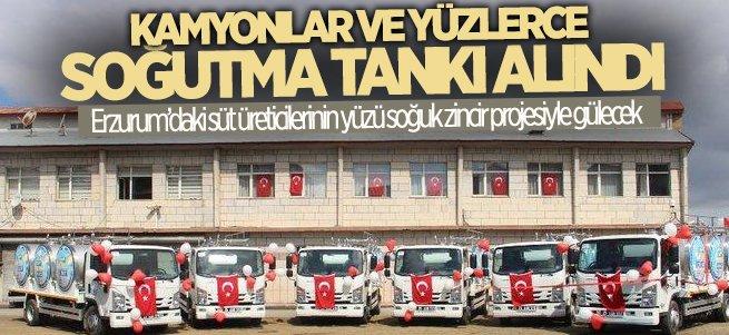8 kamyon ve 299 adet süt soğutma tankı alındı