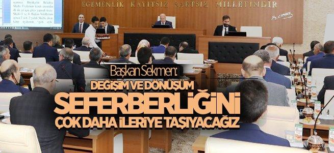 Başkan Sekmen'den önemli açıklamalar