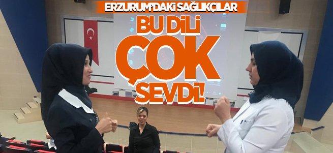 Erzurum'daki sağlıkçılar işaret dili öğreniyor