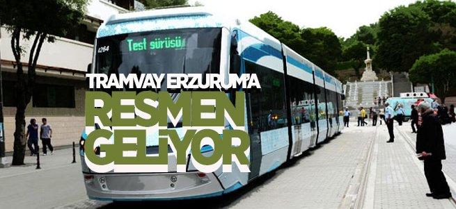Tramvay Erzurum'a Resmen Geliyor