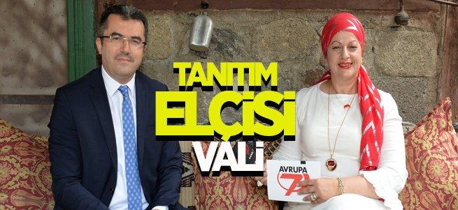 Vali Memiş Erzurum'u Avrupa ekranlarına taşıdı