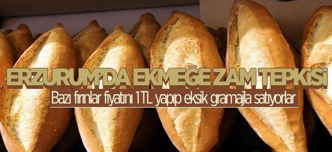 Erzurum'da Ekmeğe Zam Tepkisi