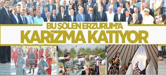 Erzurum'da hafta sonu Türk Oyunları şöleni vardı