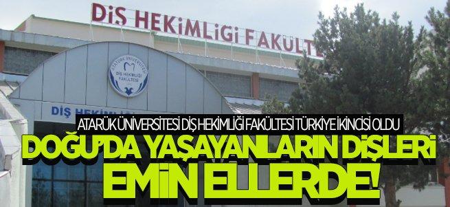 Diş Hekimliği Fakültesi Türkiye 2'incisi Oldu