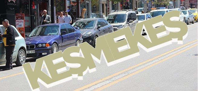 Erzurum'da Trafik Keşmekeşliği