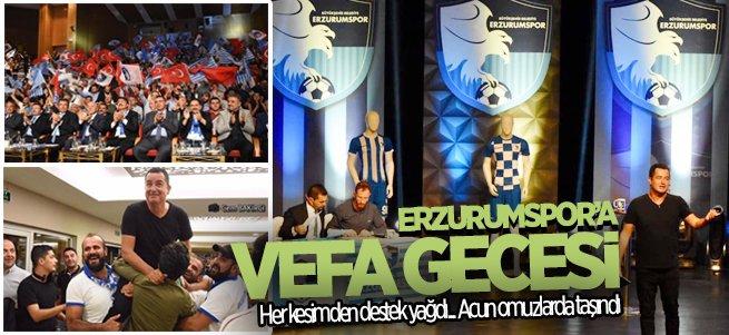 Erzurumspor'a destek yağdı...Acun omuzlarda