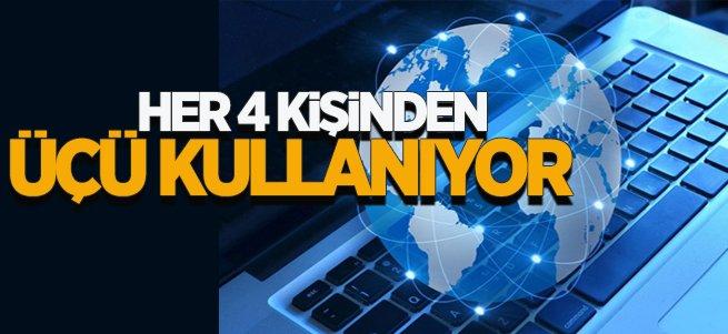 Türkiye'de her 4 Kişinden 3'ü internet kullanıyor