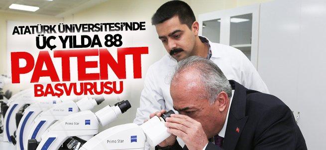 Atatürk Üniversitesi'nde 3 Yılda 88 Patent Başvurusu