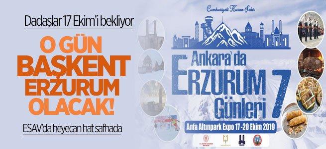 Erzurum Başkente Çıkarma Yapacak