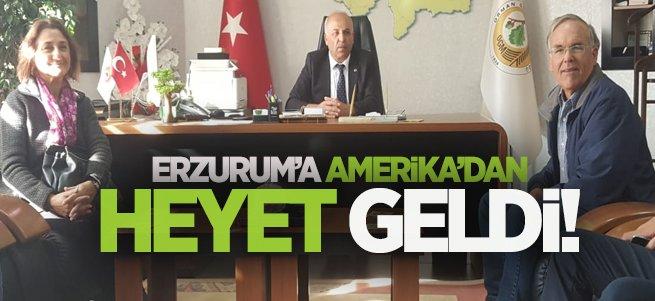 Erzurum'a Amerika'dan heyet geldi