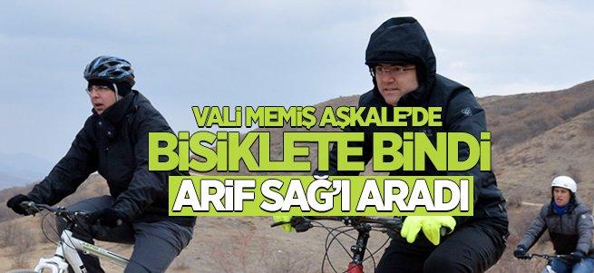 Vali Memiş bisiklete bindi, Arif Sağ'ı aradı...