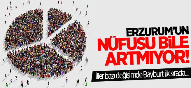 Erzurum nüfus artış oranlarına bölgede 5'inci oldu