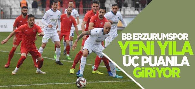 BB Erzurumspor  yeni yıla 3 puanla giriyor