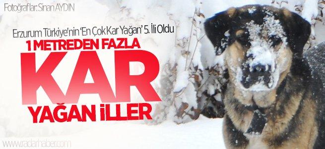 Erzurum 'En Çok Kar Yağan' 5. İl Oldu