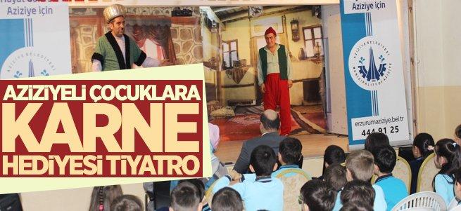 Aziziyeli Çocuklara Karne Hediyesi Tiyatro