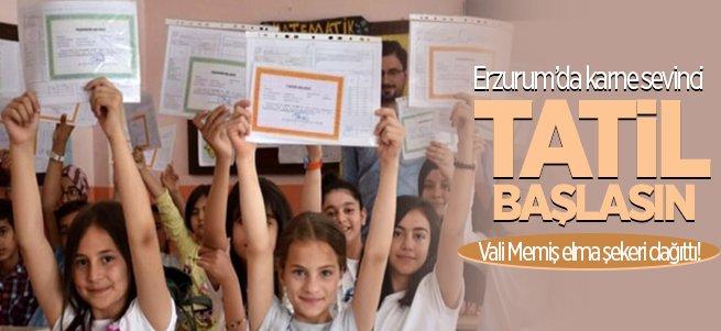 Erzurum'da 173 bin öğrenci karne aldı