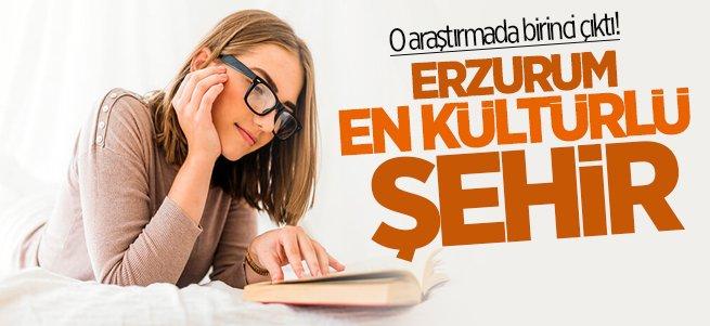 Okuma Kültür Haritasında Erzurum Birinci Çıktı