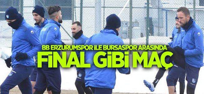 Erzurumspor ile Bursaspor arasında final gibi maç