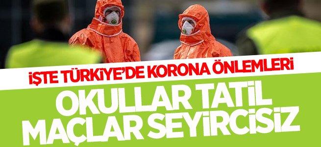 İşte Türkiye'de Korona Virüs Önlemleri!