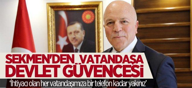 Başkan Sekmen'den vatandaşa moral mesajı