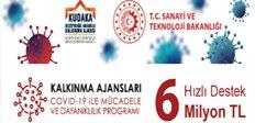 KUDAKA'dan 6 milyon TL devlet desteği