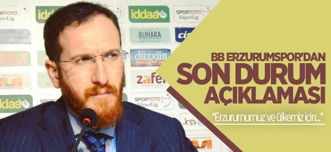 BB Erzurumspor'dan son durum açıklaması