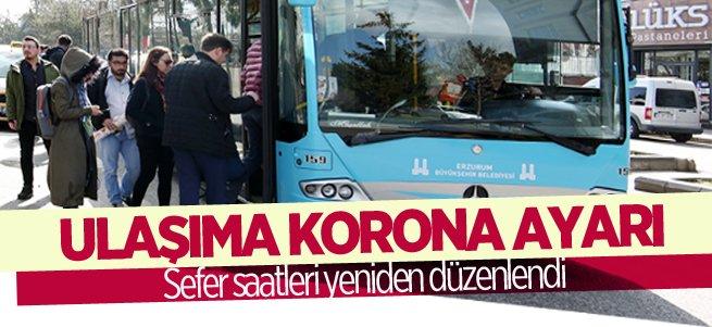 Erzurum'da ulaşıma koronavirüs düzenlemesi